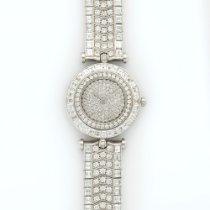 Van Cleef & Arpels White Gold Baguette Diamond Bracelet Watch
