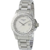 Longines Conquest Mother Of Pearl Dial Stainless Steel Ladies...