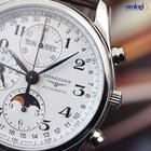 Longines Master Collection Moon-Phase Triple Date Watch Brown...