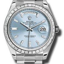 Rolex Day-Date 40 Platinum -Diamond Bezel 228396TBR ibbdp