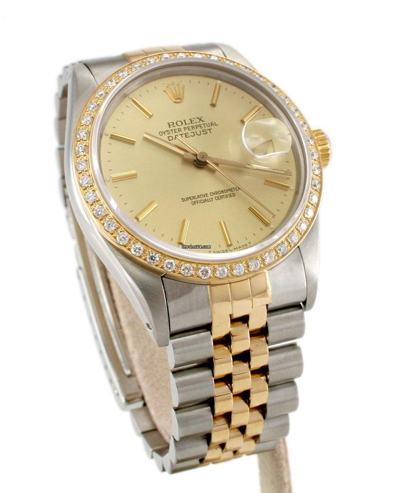 Rolex 16013 oyster perpetual datejust quick set diamond for Fast set gartenpool xxl