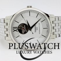 Tissot Tradition Automatic Open Heart Stainless Steel Silver...