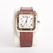 Cartier Santos 100 XL Chronograph Mixto Oro / Acero