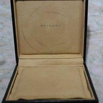 Bulgari vintage jewelry box leather black cm12x12x3.5