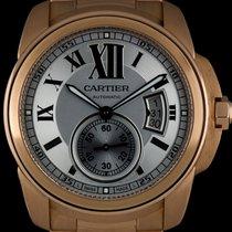 Cartier 18k Rose Gold Silver Roman Dial Calibre De Cartier...