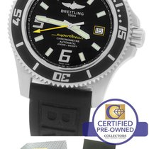 Breitling SuperOcean 44 A17391 Black Yellow 44mm Stainless Rubber