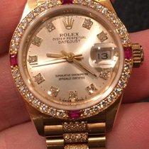 Rolex 18k Ladies Crown Collection President Bracelet 69068...