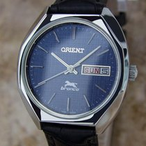 Orient Bronco Mens 1970s Made in Japan Manual Stainless Steel...