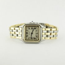 Cartier Ladies Two Tone Gold Santos Quartz Model On Bracelet