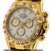 Rolex Daytona 18k Yellow Gold White Dial 40mm Ref. 116518