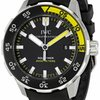 IWC Aquatimer Black Dial Rubber Strap Automatic Mens Watch...