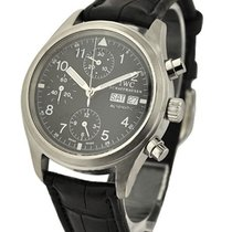 IWC IW370603 Pilots Chronograph - Steel on Strap with Black...
