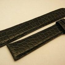 Cartier genuine Alligator strap 19/16 mm, dark blue, New