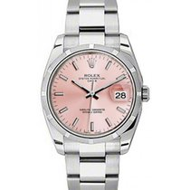 Rolex Oyster Perpetual 115210-PNKSFO 34mm Pink Index Engine-Tu...
