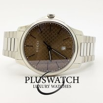 Gucci G-Timeless Small Brown Dial Steel bracelet YA126526 T