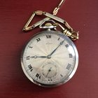 Rolex 45mm Silver Case Sunburst Guilloche Dial Pocket Watch