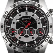 Eberhard & Co. Chrono 4 Stahl Automatik Armband Kautschuk...