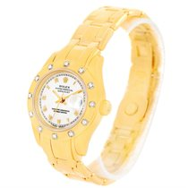 Rolex Pearlmaster 18k Yellow Gold Diamond Ladies Watch 69318