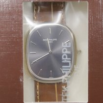 Patek Philippe New  Ellipse 18k White Gold Gray Automatic...