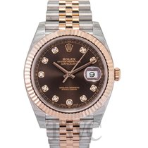 Rolex Datejust 41 Chocolate/Rose gold G 41mm - 126331