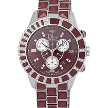 Dior Christal Stainless Steel Diamond Chronograph Ladies Watch...