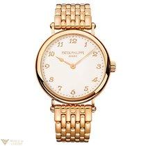 Patek Philippe Calatrava Rose Gold Ladies Watch with Bracelet