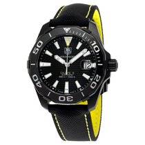 TAG Heuer Aquaracer Automatic Black Dial Mens Watch WAY218A.FC...
