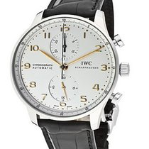 IWC IW371445 Portuguese Chrono Automatic - Steel - Steel on...