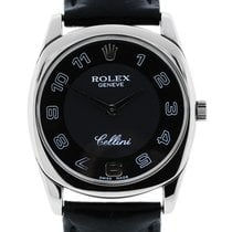 Rolex Cellini Danaos 4233 18k  Gold Mens Wristwatch on Leather