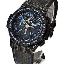Hublot Big Bang Black Fluo Blue Automatic in Black PVD Steel