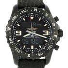 Breitling Chronospace Military Gmt Alarm Blacksteel Watch M78366