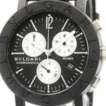 Bulgari Carbon Gold Chronograph Roma 1884 Quartz Unisex Watch...