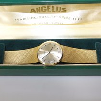 Angelus 14K Gold Midsize Vintage Bracelet Watch, Mint Condition