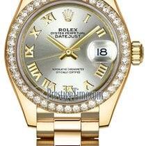 Rolex Lady Datejust 28mm Yellow Gold 279138RBR Silver Roman...