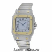 Cartier Mint Men's Unisex   Santos Galbee Automatic 18K...