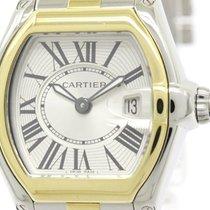 Cartier Polished Cartier Roadster 18k Gold Steel Quartz Ladies...