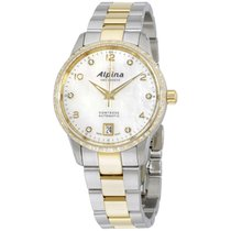 Alpina Mop Dial Two Tone Stainless Steel Ladies Watch Al525apw...