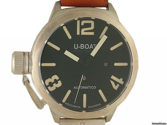 U-Boat Italo Fontana Classico Nero Silber 53mm  - Reserviert