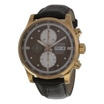 Mido Multifort Automatic Chronograph Brown Dial Brown Leather...