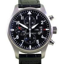 IWC Pilot Chronograph IW3777-01 Stainless Steel Black