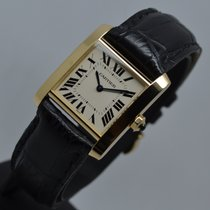 Cartier Tank Francaise 18K Gold 1821 with 1 year warranty