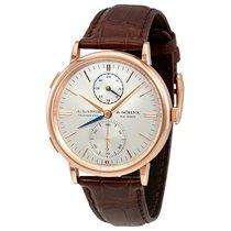 A. Lange & Söhne Saxonia Dual Time Silver Dial 18K Pink...
