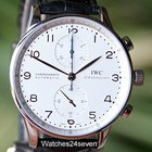 IWC Portuguese Chronograph Silver Dial Rose Gold hands...