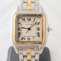 Cartier Panthere 18k Gold Steel One Gold Line 27mm