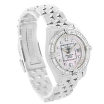 Breitling Windrider Cockpit Mother Pearl Diamond Womens Watch...