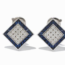 Piaget , Pair of Sapphire & Brilliant Earrings, 18K Gold