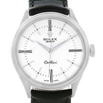 Rolex Cellini Time 18k White Gold White Dial Automatic Mens...