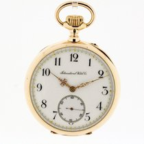 IWC solid 18K Rose Gold Pocket Watch Lepine Cal. 52 from 1902...