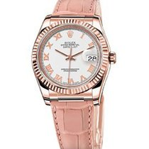 Rolex Unworn 116135 Datejust 36mm Automatic in Rose Gold -...