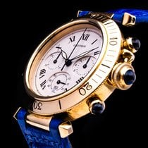 Cartier Pasha Chronograph 18kt. Gold  Date 38mm Box Papers...